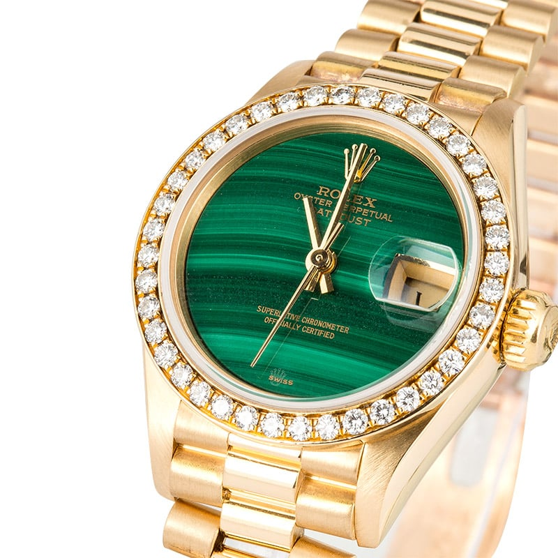A Rolex Lady Datejust Gold President Replica Watch To Lead ...