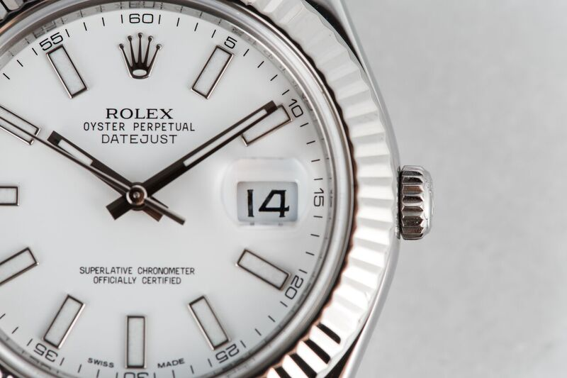 Rolex Stainless Steel and White Gold Datejust II 116334