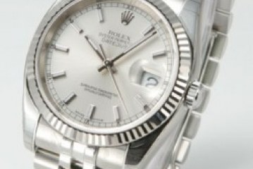 replica rolex mens datejust white dial stainless steel watch