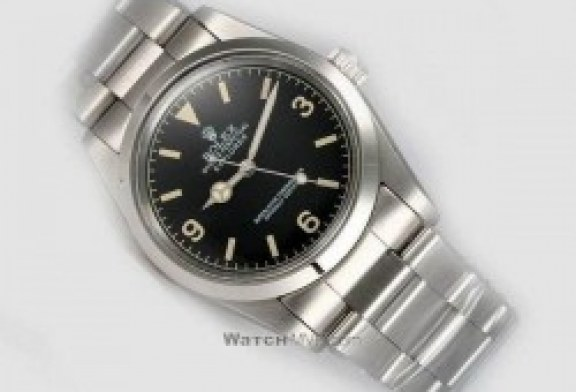 cheap replica rolex explorer polished stainless steel black dial