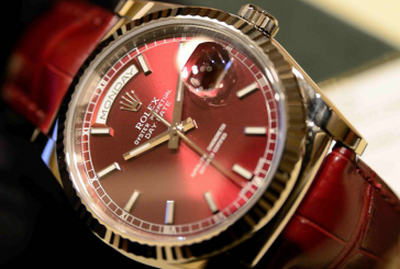 Replica High-end Rolex Day-Date Leather Colorful Watches For Sale