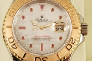 Top qulaity Replica rolex yachtmaster white dial rose gold watch