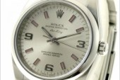The cheap replica rolex air king white dial stainless steel