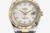 replica rolex datejust II stainless steel white gold bezel watch