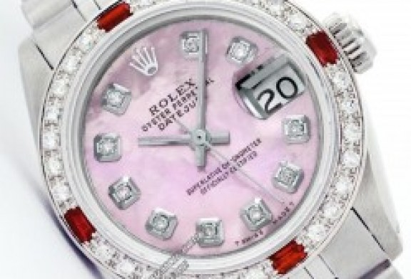 cheap replica rolex lady datejust pink dial white gold and steel