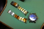 Replica Rolex Submariner Blue Dial Two Tone Case Watch For Men
