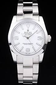 rolex explorer polished stainless steel black dial