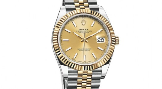 Yellow Gold Dial Steel Case Rolex Oyster Perpetual Datejust 41 Replica Watch