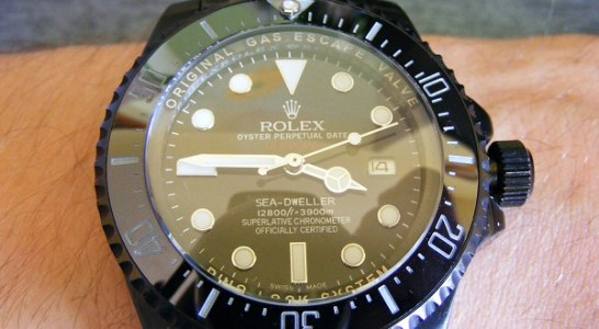 Black stainless steel rolex deepsea sea-dweller jacques piccard special editions replica watch