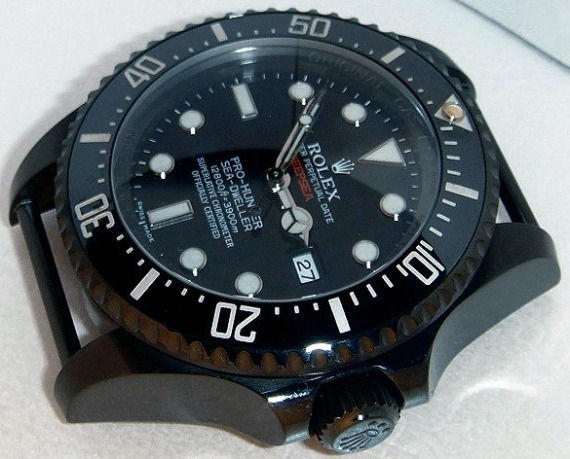 Pro-Hunter Military Single Red DeepSea Rolex Submariner Features Replica Watch Available On James List Sales & Auctions