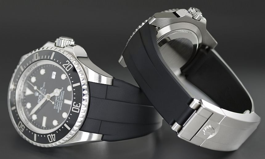 Introducing The Rubber B Rolex Deepsea Glidelock Watch Strap Luxury Items
