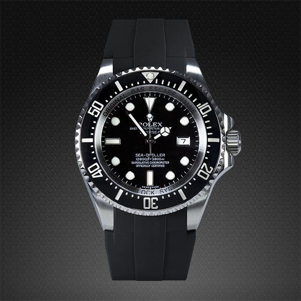 Introducing The Rubber B Rolex Submariner New Replica Deepsea Glidelock Watch Strap Luxury Items