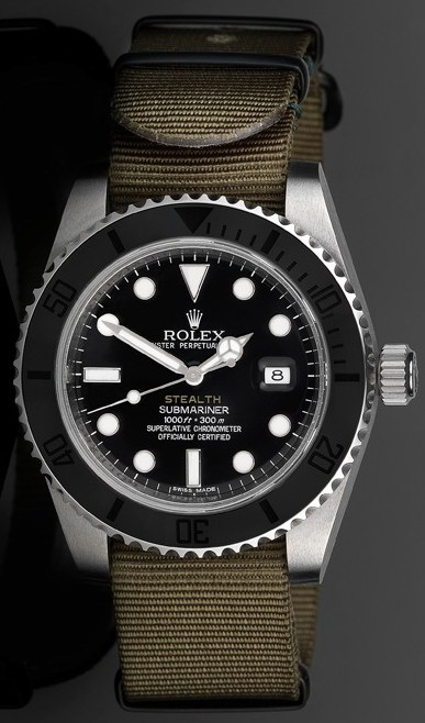 """Project X Designs """"Stealth"""" Customized Rolex Submariner 43mm Replica Submariner Watch Watch Releases"""