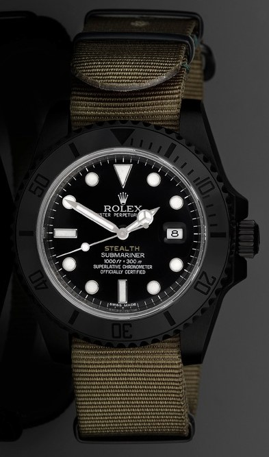 """Project X Designs """"Stealth"""" Customized Rolex Submariner Watch Watch Releases"""