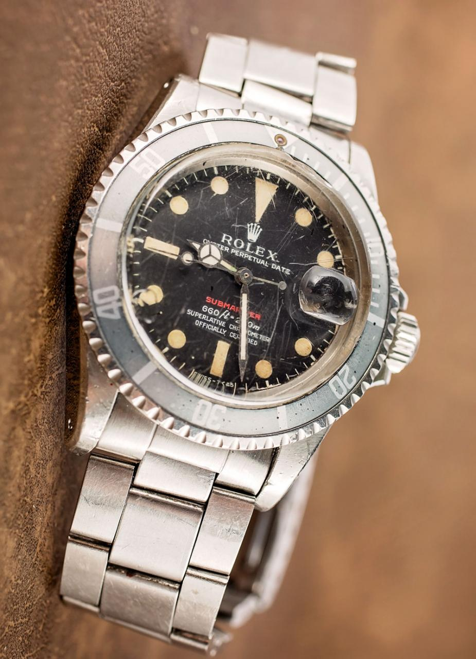 A Vintage Vintage Rolex 5508 Replica 'Red Submariner' Watch With An Actual History Of Military Service Hands-On Submariner