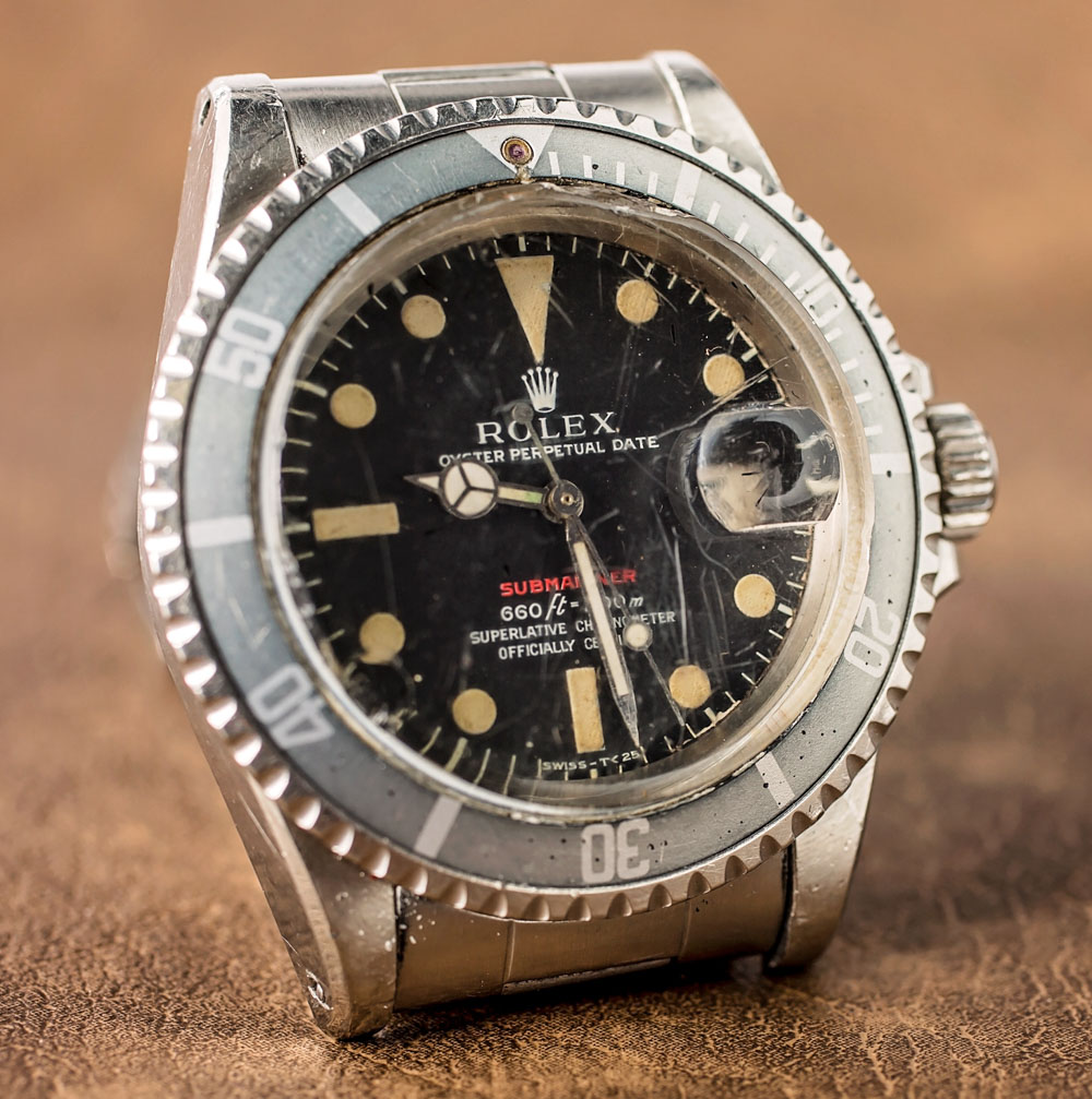 A Vintage Rolex Junior Vintage Replica 'Red Submariner' Watch With An Actual History Of Military Service Hands-On Submariner