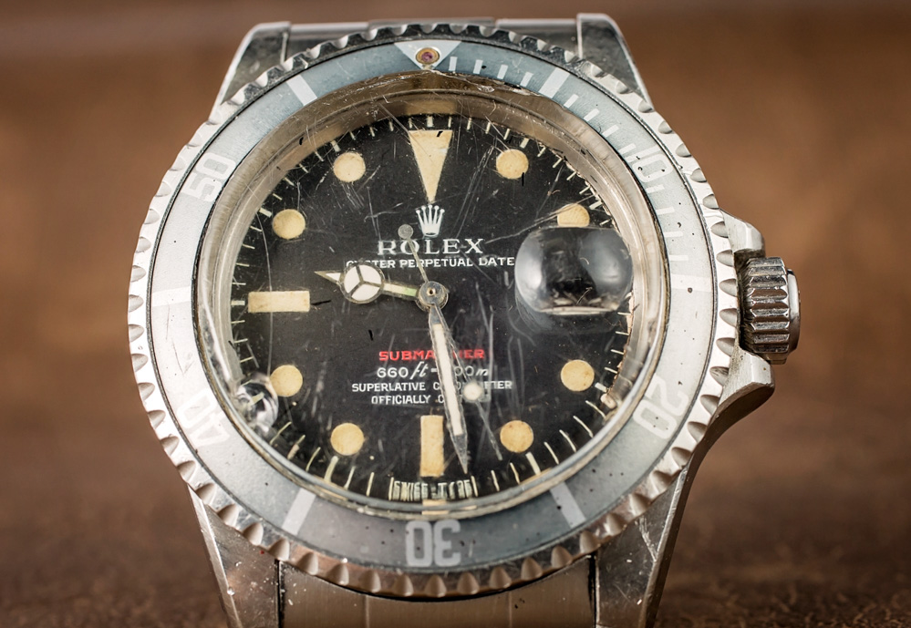 A Vintage Rolex 'Red Submariner' Watch With An Actual History Of Military Service Hands-On Submariner