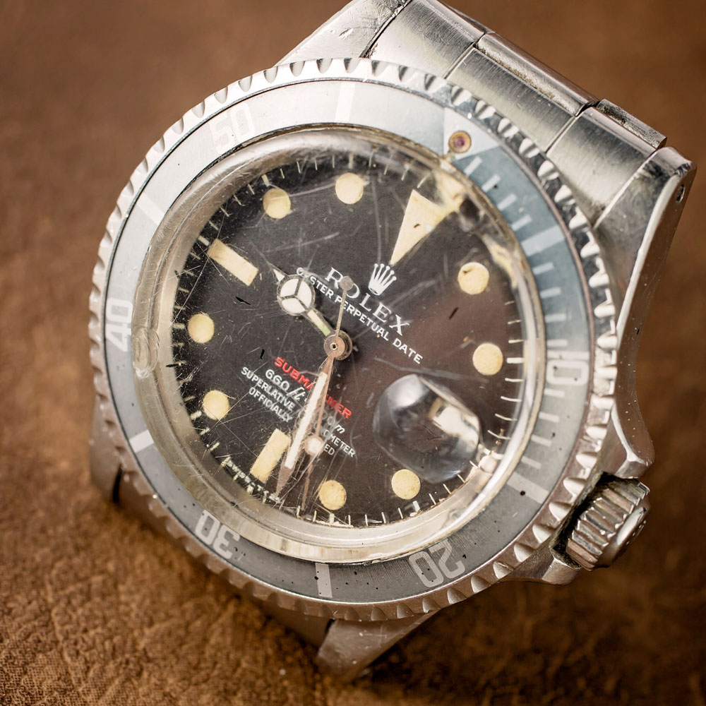 A Vintage Vintage Rolex Jacek Replica 'Red Submariner' Watch With An Actual History Of Military Service Hands-On Submariner
