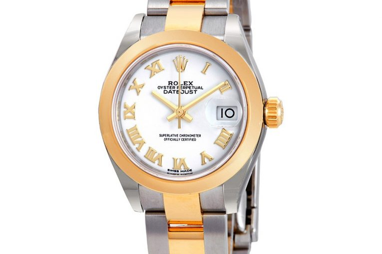 Rolex Lady-Datejust 28 Automatic White Dial Ladies Steel and 18kt Yellow Gold Oyster Watch 279163WRO