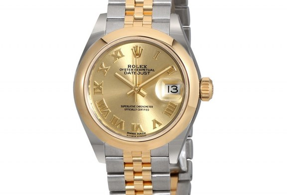 Replica Wholesale Rolex Lady Datejust 28 Champagne Dial Automatic Two Tone Jubilee Watch