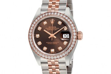 Replica Expensive Rolex Lady Datejust Chocolate Diamond Dial Automatic Watch