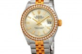 Replica At Best Price Rolex Lady-Datejust Silver Dial Ladies Steel and 18kt Yellow Gold Jubilee Watch