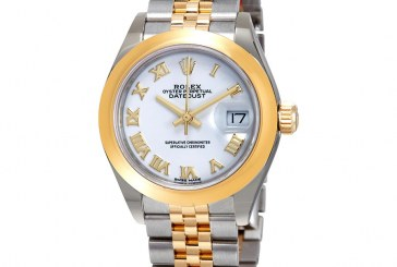 Replica Expensive Rolex Lady-Datejust White Dial Automatic Ladies 18kt Yellow Gold and Steel Jubilee Watch